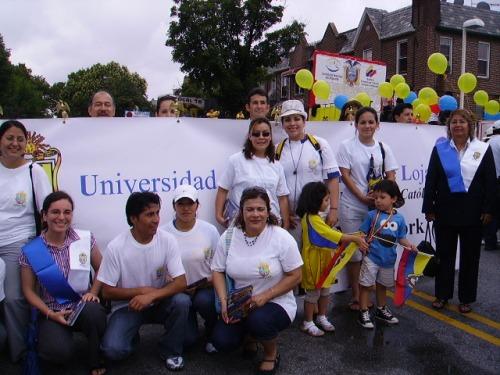 Comunidad de estudiantes y Maestros, de la Universidad Técnica Particular de lo Loja del Centro asociado en New York EE. UU.